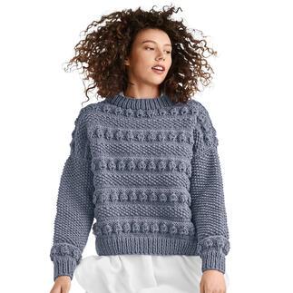 Anleitung 418/1, Pullover aus Merino Dick von Junghans-Wolle