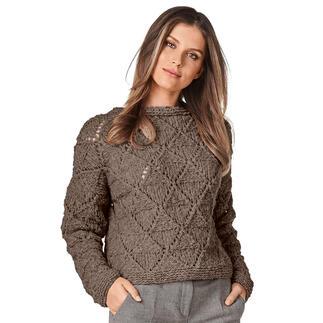 Anleitung 435/1, Pullover aus Cara von Junghans-Wolle