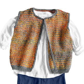 Anleitung 442/1, Kinderweste aus Monello-175 Uni und Monello-175 Color von Junghans-Wolle