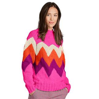 Anleitung 458/1, Pullover aus Monello-90 Uni von Junghans-Wolle