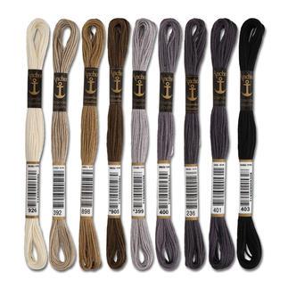 Anchor-Sticktwist Grau/Braun/Schwarz/Weiss Sie haben eine riesige Farbauswahl. Sie werden aus hochwertiger, reiner Baumwolle nach strengen Qualitätskriterien gefertigt.