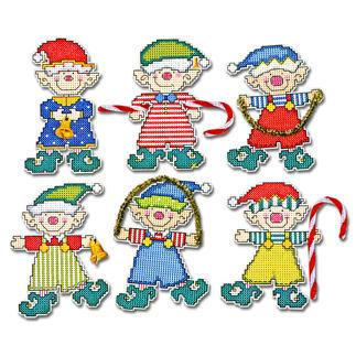 6 Weihnachts-Elfen im Set.