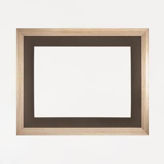 Bilderrahmen, blass-goldfarben mit Passepartout, Ausschnitt 36 x49 cm Bilderrahmen, blass-goldfarben mit schwarzem Passepartout