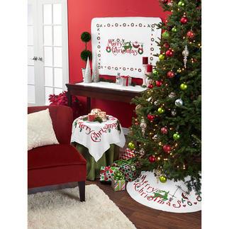 Fleece-Christbaumdecke - Merry Christmas Weihnachtsserie von Anette Eriksson