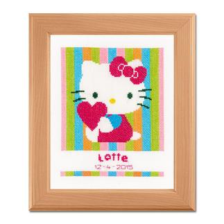 Kreuzstich-Geburtsbild - Hello Kitty Bunte Stickideen für das Kinderzimmer.
