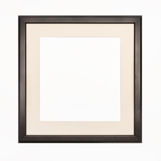 Bilderrahmen, Schwarz mit Passepartout, Ausschnitt 35 x 34 cm Bilderrahmen, Schwarz mit cremefarbenem Passepartout
