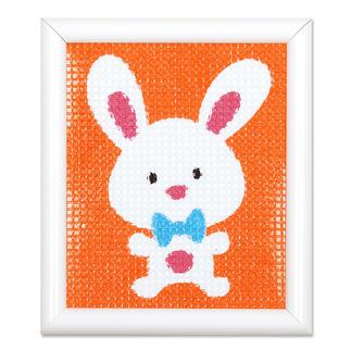 Stickbild - Lustiges Kaninchen Stickspass für Kinder