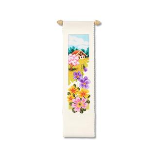 Wandbehänge mit Zierstange - Vier Jahreszeiten Stickideen für jede Jahreszeit