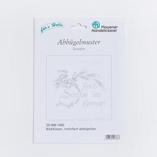 Abbügelmuster - Spannstich, quadratische Motive für Bilder/Kissen Abbügelmuster für Textilien.