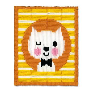 Stickbild - Zwinkernde Katze Stickspass für Kinder