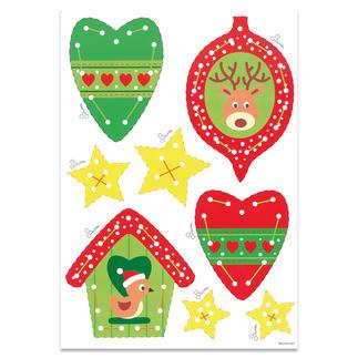 """Weihnachts-Anhänger - Elch & Vögelchen """"Meine ersten Weihnachts-Anhänger"""" – für Kinder ab 3 Jahren."""