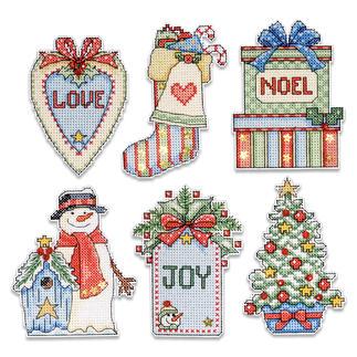 Kreuzstich-Anhänger - Country Christmas, 6er-Set Kreuzstich-Anhänger