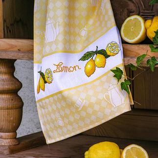Hochwertiges Baumwoll-Geschirrtuch - Lemon Dekoratives für die Küche.