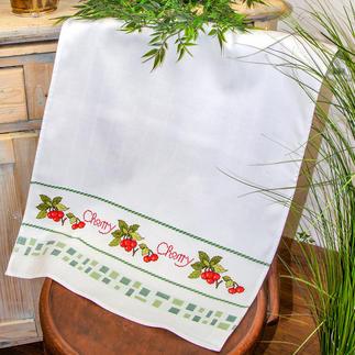 Hochwertiges Baumwoll-Geschirrtuch - Cherry Dekoratives für die Küche.