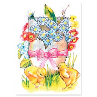 Grusskarten mit Umschlägen - Osterei Farbenfrohe Stickideen zur Osterzeit.