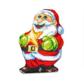 Formkissen - Weihnachtsmann mit Stern -