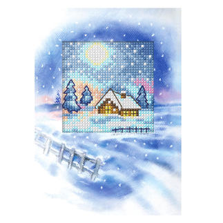 Grusskarten mit Umschlägen im Set Weisse Weihnachten
