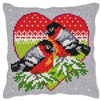 Kreuzstichkissen - Wintervögel Kreuzstichkissen - der beliebte Klassiker