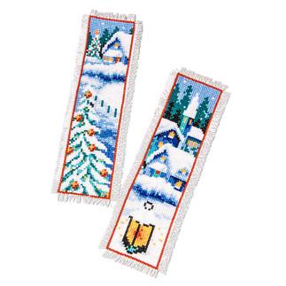 2er-Set Lesezeichen - Winterdorf Weisse Weihnachten