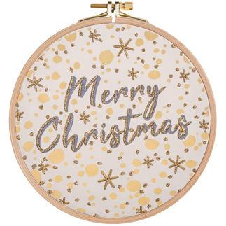 Statement-Bild - Merry Christmas Statement-Stickbilder mit Rahmen.