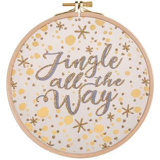 Statement-Bild - Jingle all the way Statement-Stickbilder mit Rahmen.