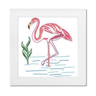 Stickbild - Flamingo
