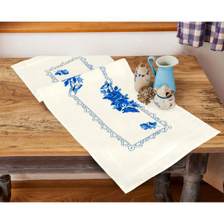 Tischwäsche - Blue Roses