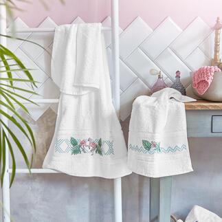 Frottiertücher - Flamingos Frottiertücher für Ihr schönes Bad.
