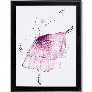 Stickbild - Anemonen-Ballerina