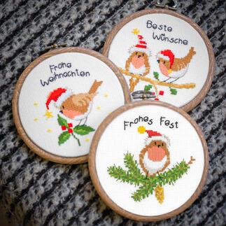Weihnachtsvögel, 3 Miniaturen im Set