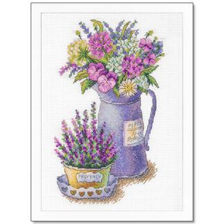 Stickbild - Blumen der Provence