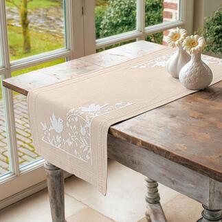 Tischläufer - Weisse Vögel