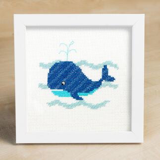 Kreuzstichbild - Wal