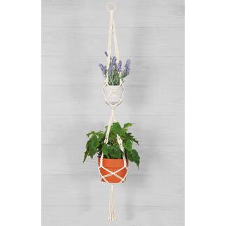 Makramee-Set - Doppelte Blumenampel