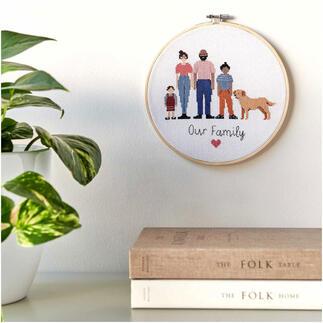 Kreuzstichbild - Figurico Family