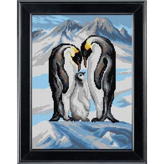 Gobelinbild - Pinguinfamilie