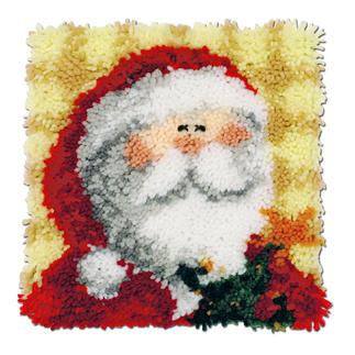 Nikolaus-Kissenplatte Knüpfideen zur Weihnachtszeit.