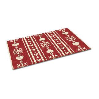 Fussmatte - Christkindl, rot Weihnachtliche Fussmatte.