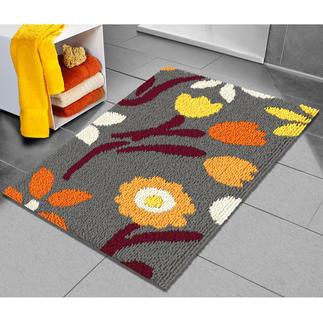 Badteppich - Flowers Farbenfrohe Badteppiche in grafischen Variationen.