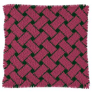 Knüpfkissen - Pink-Thyme, Flechtmuster, B-Ware Kuschelweiche Kissen mit Variationsmöglichkeiten