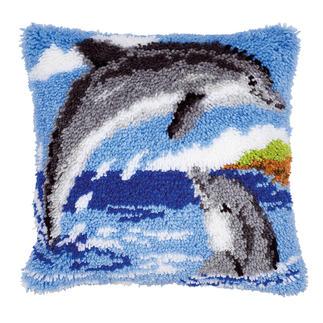 Knüpfkissen - Delfine Knüpfideen – schnell und leicht.