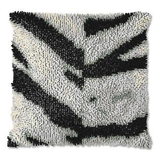 Knüpfkissen Zebra oder Ozelot