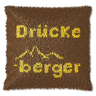 Knüpfkissen - Drückeberger, B-Ware