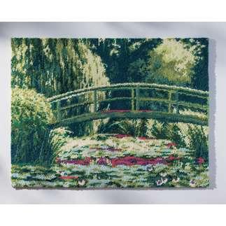Wandbehang - Japanische Brücke Als Wandbild oder Teppich von Claude Monet.