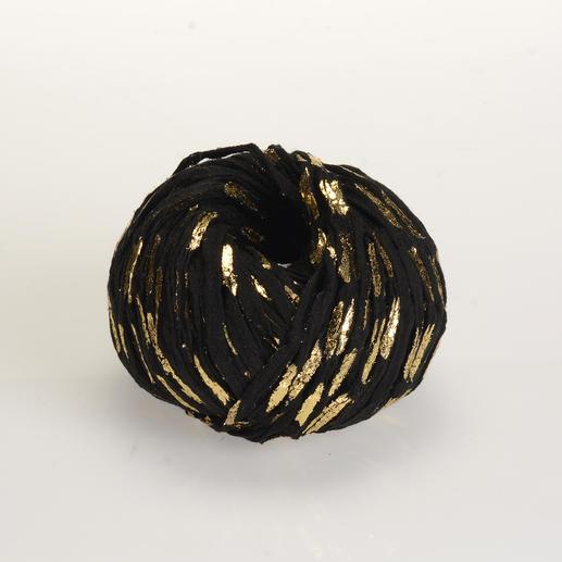 Metallico von Junghans-Wolle Mit trendigem Gold- oder Silberdruck – genau richtig für den Vintage Look.