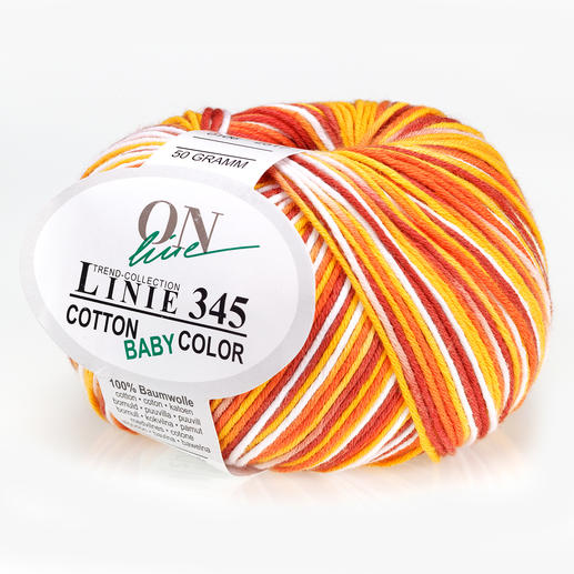 Linie 345 Cotton Baby Color von ONline, Gelb/Orange/Rot/Weiss Linie 345 Cotton Baby Color von ONline