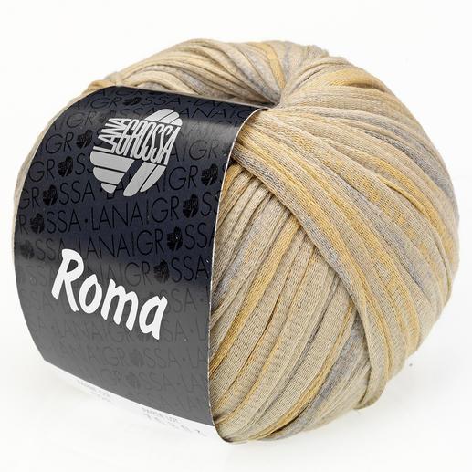 Roma von Lana Grossa, Grünbeige/Silber/Gold