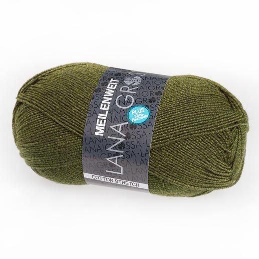 Meilenweit Cotton Stretch von Lana Grossa, Olivgrün