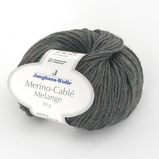 Merino-Cablé Melange von Junghans-Wolle