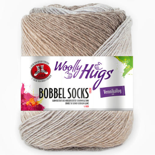 Sockenwolle Bobbel Socks Color von Woolly Hugs